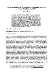 Failures of Financial Supervision and Systemic Banking Crises: Who ...