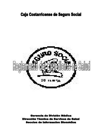 Reglamento del Expediente de Salud - CENDEISSS
