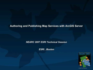 Authoring and Publishing Map Services with ArcGIS Server