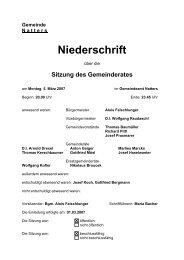 Protokoll vom 5.3.2007 (83 KB) - .PDF - Natters