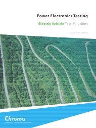 Download EV Test Brochure - Chroma Systems Solutions