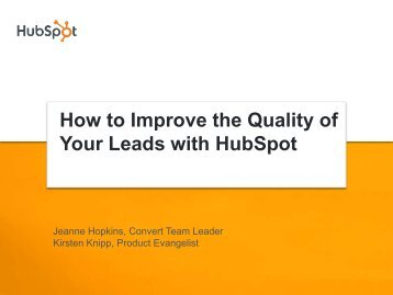 Improving Lead Quality