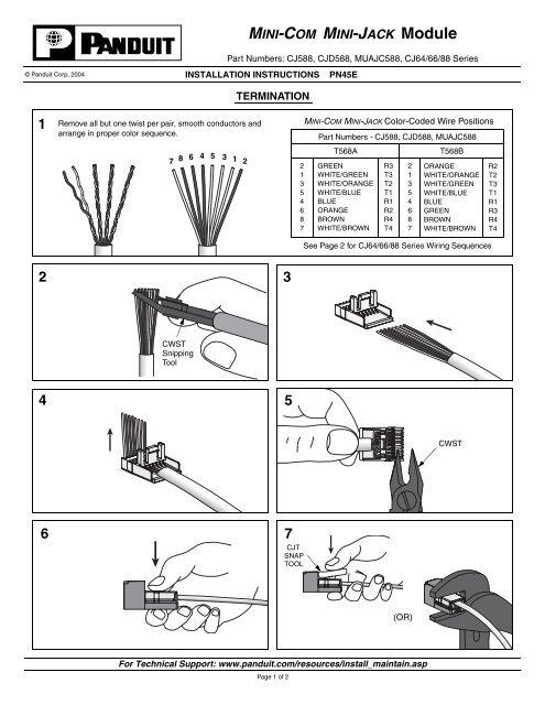 panduit rj11 wiring diagram 1 kassex  1 kassex