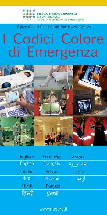 Codici colore Emergenza 8 lingue.indd - Azienda USL di Reggio ...