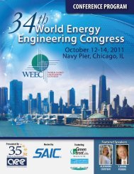 ConFerenCe ProGrAM - Association of Energy Engineers