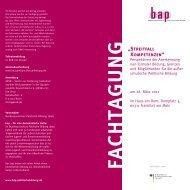 Flyer und Programm - Bundesausschuss Politische Bildung