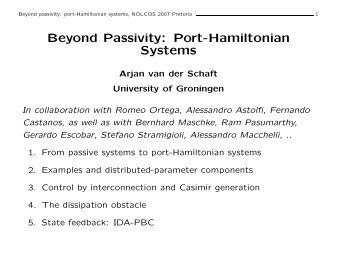 Beyond Passivity: Port-Hamiltonian Systems