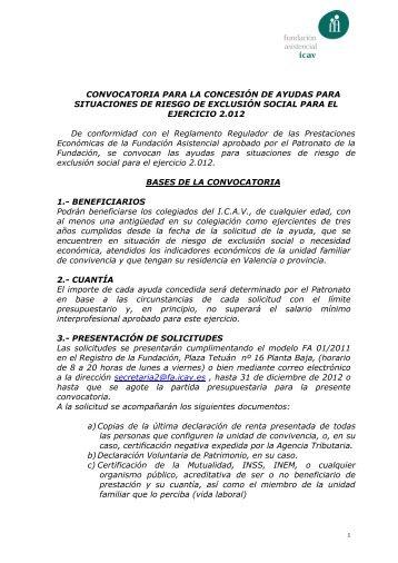 obra social del colegio de abogados de vizcaya - Fundación ...