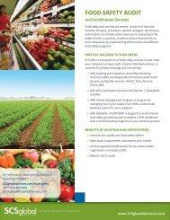 FOOD SAFETY AUDIT - SCS Global Services