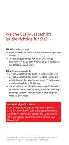 SEPA Lastschrift Flyer - Seite 4