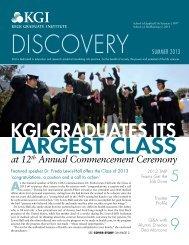 KGI Graduates Its - Keck Graduate Institute