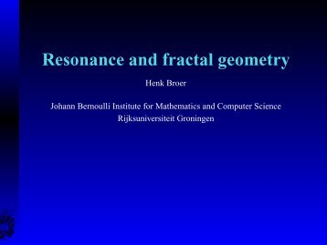 Resonance and fractal geometry - Universidad de Oviedo