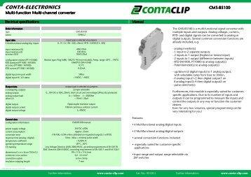 Instruction leaflet CMS-BS 100 - CONTA-CLIP