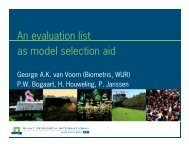 An evaluation list as model selection aid: finding models with a ...