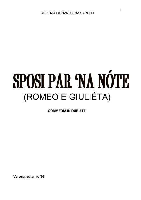 copione Silveria Gonzato