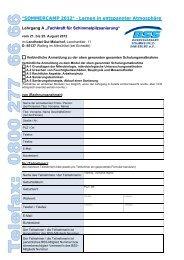 SOMMERCAMP 2012 - Bundesverband Schimmelpilzsanierung eV