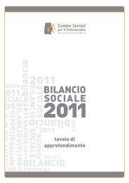 Tavole di Approfondimento al Bilancio Sociale 2011 - CSV Marche