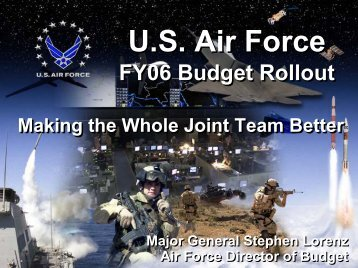 FY06 Budget Overview - Air Force Financial Management ...