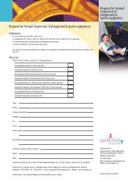 INSPECTION REQUEST FORM - Wicksteed Leisure Limited