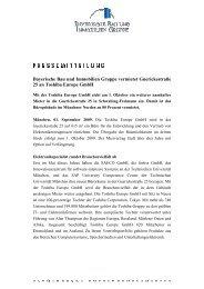 Bayerische Bau und Immobilien Gruppe vermietet an Toshiba Europe