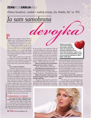 Olivera Kovačević, Žene koje Srbija voli - Magazin