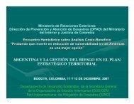 argentina y la gestión del riesgo en el plan estratégico territorial