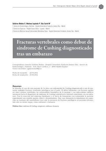 Descargar PDF - Revista de Osteoporosis y Metabolismo Mineral
