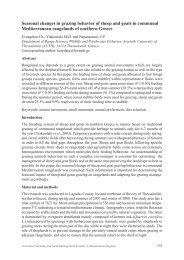 Seasonal changes in grazing behavior of sheep and goats in ...