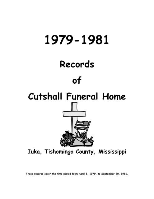 Cutshall Funeral Home Records Index
