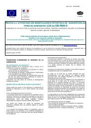 notice a l'attention des beneficiaires potentiels de subvention au titre ...