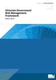 Victorian Government Risk Management Framework - Department of ...