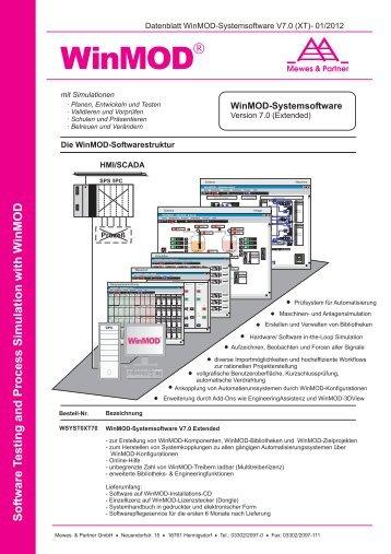 Datenblatt WinMOD-Systemsoftware V7.0 XT