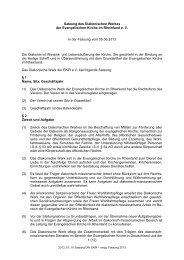 Satzung des Diakonischen Werkes der Evangelischen Kirche im ...