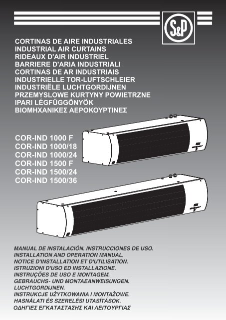 COR-IND 1000 F COR-IND 1000/18 COR-IND 1000/24 COR-IND ...