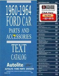 DEMO - 1960-64 Ford Car Master Parts and Accessories Catalog
