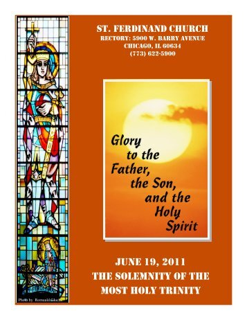 june 19, 2011 the solemnity of the most holy trinity - Parafia św ...