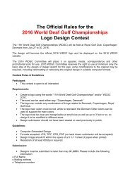 The Official Rules for the 2016 World Deaf Golf Championships ...