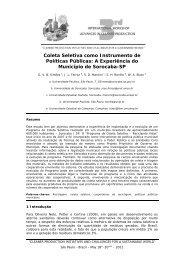Coleta Seletiva como Instrumento de Políticas Públicas: A ...