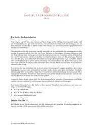 Die Genfer Markendefinition - Institut für Markentechnik Genf