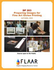 DP 203 Preparing Images for Fine Art Giclee Printing - Digital ...