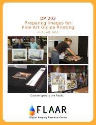 DP 203 Preparing Images for Fine Art Giclee Printing - Digital ...