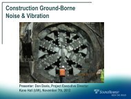 Construction vibration predictions