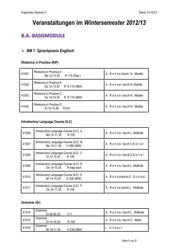 WINTER 12-13 - BACHELOR - Englisches Seminar II