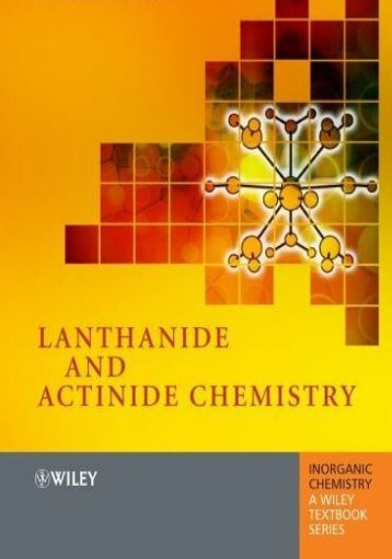 Lanthanide and Actinide Chemistry - Home
