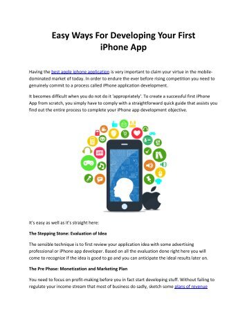 Easy Ways For Developing Your First iPhone App