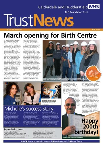 March opening for Birth Centre - Calderdale and Huddersfield NHS ...