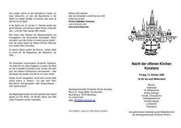 Nacht der offenen Kirchen Konstanz - (ACK) Konstanz