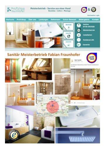 Sanitär Meisterbetrieb Fabian Fraunhofer