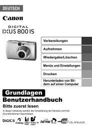 Digital IXUS 800 IS IXUS_800IS_GRUNDLAGEN_DE.pdf - canon.de