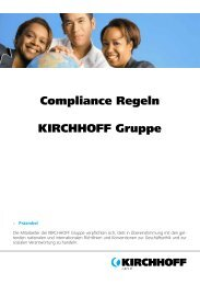 Flyer Compliance deutsch - Kirchhoff Gruppe